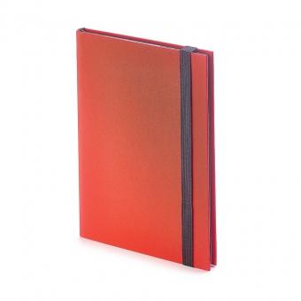Еженедельник  недатированный Tango, B6, красный, бежевый блок, черный обрез, ляссе