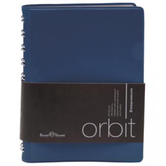Ежедневник полудатированный Orbit, А6, синий, белый блок, серебряный обрез, без ляссе