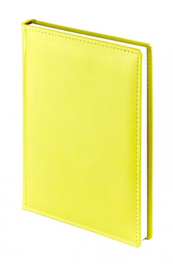 Ежедневник недатированный Velvet, А5, желтый, белый блок, без обреза