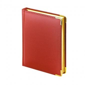 Ежедневник полудатированный Imperium, А6+, бронза, бежевый блок, золотой обрез, два ляссе