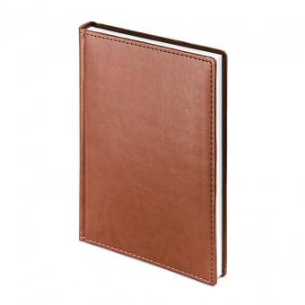 Ежедневник датированный Velvet, А5+, коричневый, белый блок, без обреза