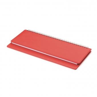 Планинг датированный, Velvet, красный, 305х130 мм, белый блок, открытый гребень