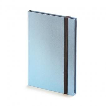 Еженедельник недатированный Tango, B6, голубой, бежевый блок, черный обрез, ляссе