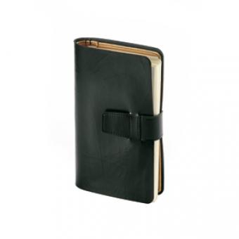Ежедневник недатированный Siena, черный, А5, бежевый блок, без обреза, без ляссе