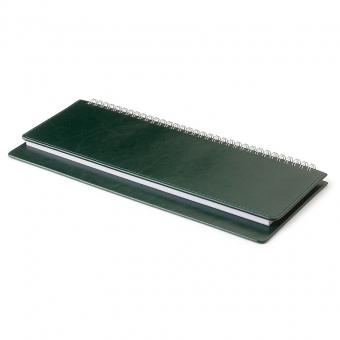 Планинг недатированный, Sidney Nebraska, зеленый, 305х130 мм, белый блок, открытый гребень