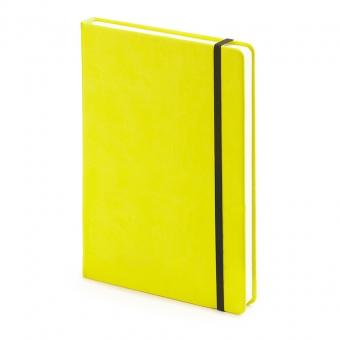 Ежедневник недатированный Megapolis Velvet, А5, желтый, бежевый блок, без обреза, ляссе