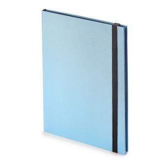 Еженедельник недатированный Tango, B5, голубой, бежевый блок, черный обрез, ляссе
