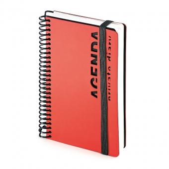 Ежедневник недатированный Agenda, В6, красный, белый блок, без обреза, без ляссе