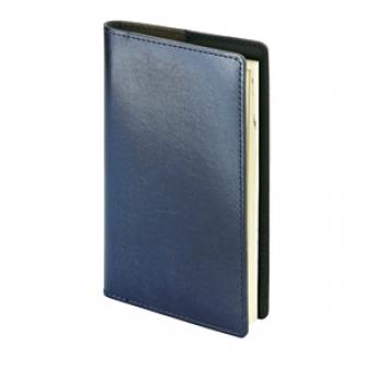 Еженедельник недатированный Oxford, А6, синий, бежевый блок, без обреза, телефонная книга с вырубным