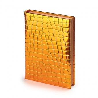 Ежедневник полудатированный Broadway, А5+, золотой, бежевый блок, бронзовый обрез, два ляссе