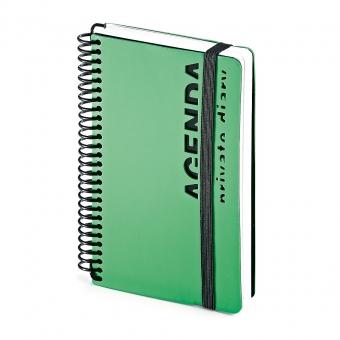 Ежедневник недатированный Agenda, В6, зеленый, белый блок, без обреза, без ляссе