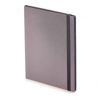 Еженедельник  недатированный Tango, B5, серый, бежевый блок, черный обрез, ляссе
