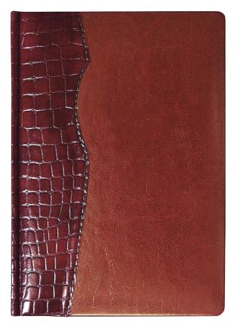 Ежедневник CARDINAL, датированный, бордовый с коричневым