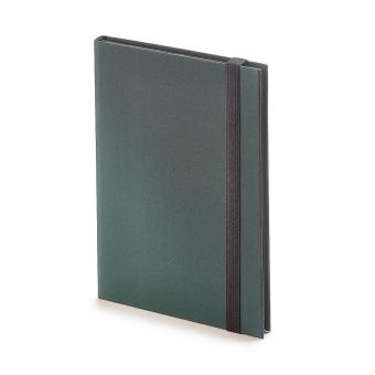 Еженедельник недатированный Tango, B6, зеленый, бежевый блок, черный обрез, ляссе
