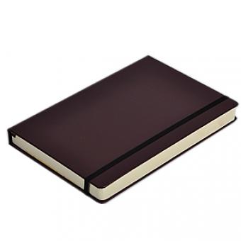 Ежедневник полудатированный Megapolis, А6, коричневый, бежевый блок, без обреза, ляссе