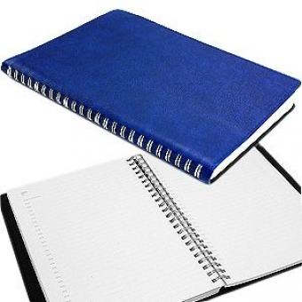 Ежедневник недатированный Milano, А5, темно-синий, бежевый блок, без обреза, без ляссе