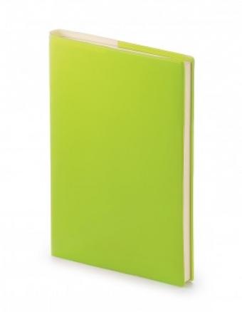 Ежедневник недатированный Glossy Pro, А5, салатовый, бежевый блок, без обреза