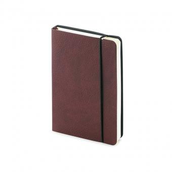 Ежедневник недатированный Vincent А6, коричневый, бежевый блок, без обреза, ляссе