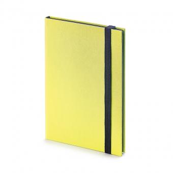 Еженедельник недатированный Tango, B6, желтый, бежевый блок, черный обрез, ляссе