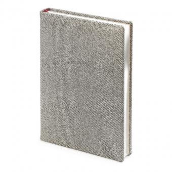 Ежедневник полудатированный Las Vegas,  А5+, серый, серебрянный обрез, два ляссе