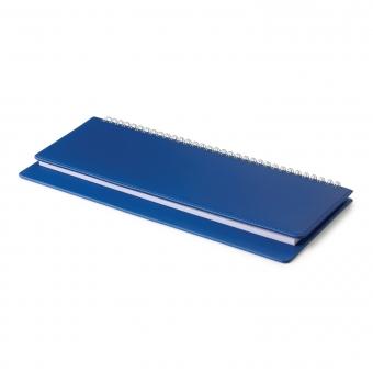 Планинг датированный, Velvet, синий, 305х130 мм, белый блок, открытый гребень