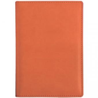 Ежедневник недатированный Velvet А5, оранжевый, белый блок, без обреза