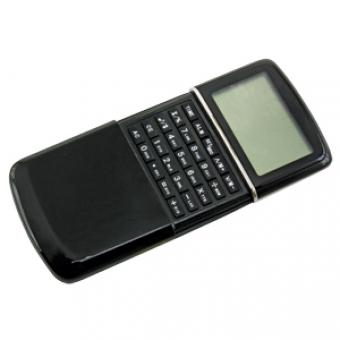Калькулятор с календарем; черный; 6,2х10х1,5 см; пластик; тампопечать