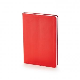Ежедневник недатированный Stockholm, А5, красный, белый блок, без обреза