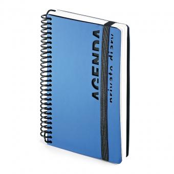 Ежедневник недатированный Agenda, В6, синий, белый блок, без обреза, без ляссе