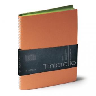 Еженедельник недатированный Tintoretto, B5, оранжевый, белый блок, зеленый обрез