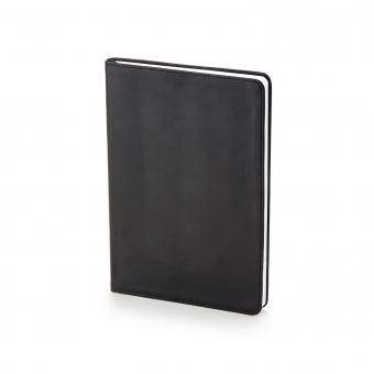 Ежедневник недатированный Stockholm, А5, черный, белый блок, без обреза