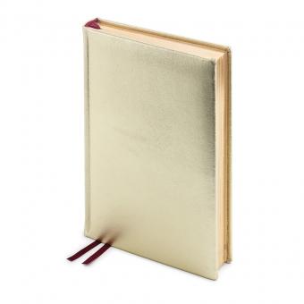 Ежедневник полудатированный Cult Gold, А5+, золотой,  золотой обрез, два ляссе