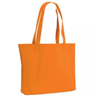 "Сумка для покупок ""Felt""; оранжевая; 39х33х8 см; фетр"