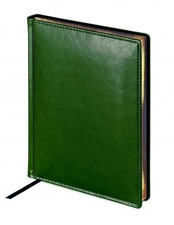 Ежедневник датированный Sidney Nebraska, А5, зеленый, белый блок, золотой обрез, ляссе