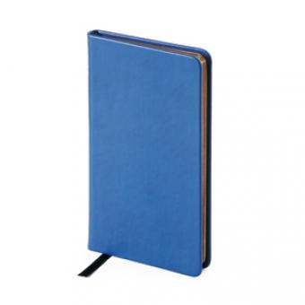 Еженедельник недатированный Megapolis Velvet, А6, синий, бежевый блок, золотой обрез, ляссе