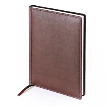 Ежедневник датированный Leader, А5, коричневый, белый блок, без обреза