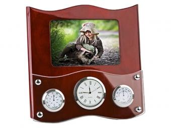Погодная станция «Гудзон»: часы, термометр, гигрометр и рамка для фотографии