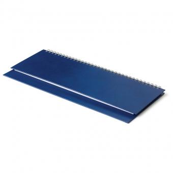 Планинг недатированный Ideal New, синий, 305х130 мм, белый блок, открытый гребень