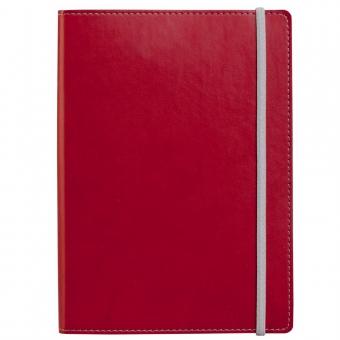 Ежедневник Vivid Colors в мягкой обложке, недатированный, красный