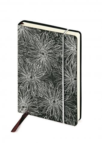 Ежедневник недатированный SAN REMO, А5, черный с серебром, бежевый блок, без обреза, ляссе