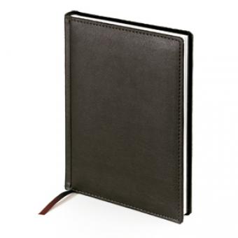 Ежедневник датированный Leader, А5, черный, белый блок, без обреза