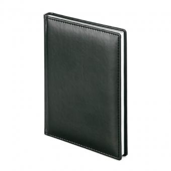 Ежедневник недатированный Velvet, А5, черный, белый блок, без обреза
