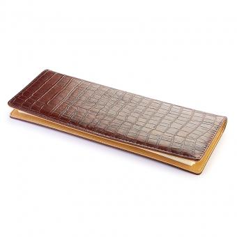Планинг недатированный Croco, коричневый,  320х120 мм, бежевый блок, закрытый гребень