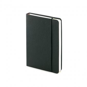 Ежедневник недатированный Vincent А6, черный, бежевый блок, без обреза, ляссе