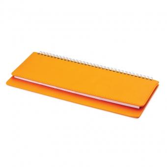Планинг недатированный, Velvet, оранжевый 305х130 мм, белый блок, открытый гребень