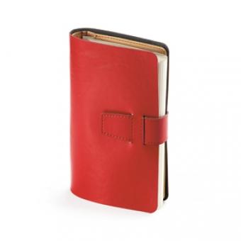 Ежедневник недатированный Siena, красный, А5, бежевый блок, без обреза, без ляссе