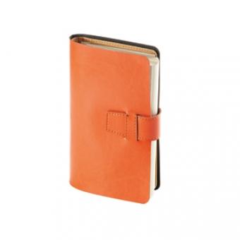 Ежедневник недатированный Siena, оранжевый, А5, бежевый блок, без обреза, без ляссе