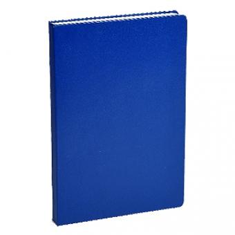 Ежедневник недатированный Megapolis, А4, синий, бежевый блок, без обреза, ляссе