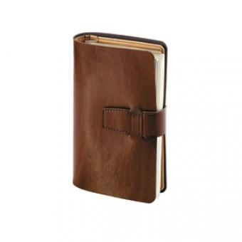 Ежедневник недатированный Siena, коричневый, А5, бежевый блок, без обреза, без ляссе