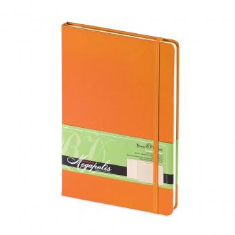Ежедневник-блокнот недатированный Megapolis-Journal, А5, оранжевый, бежевый блок, без обреза